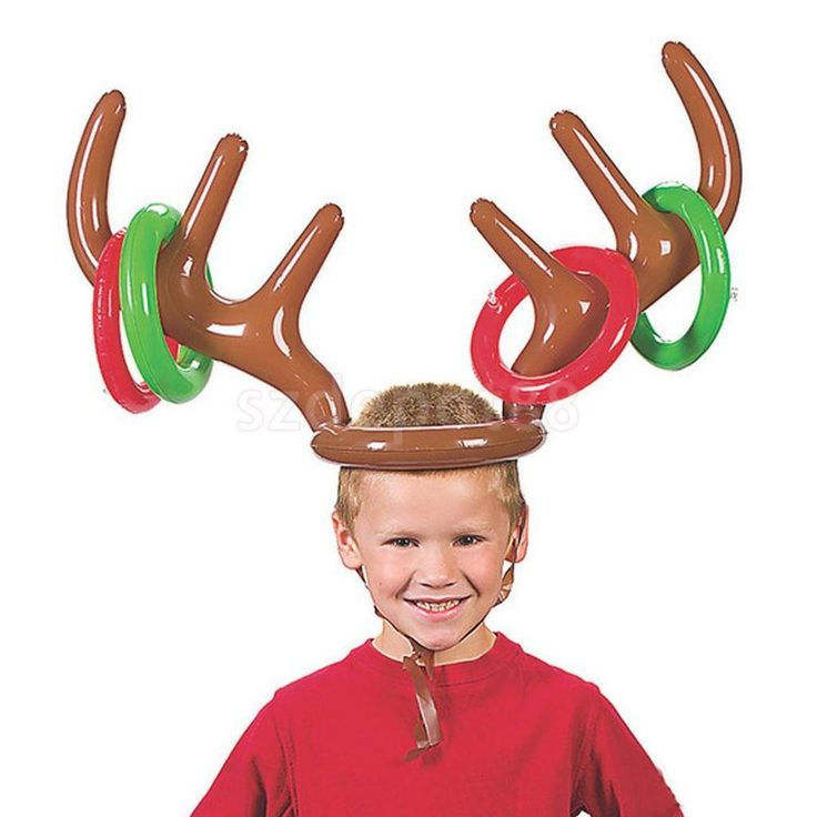 Christmas Party Game Reindeer Antler Ring Toss Inflatable Holiday Class Game | Home & Garden, Greeting Cards & Party Supply, Party Supplies | eBay!