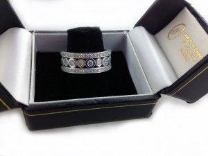 3-row 18k white gold Fancy Diamond Eternity ring. www.samuelkleinberg.com