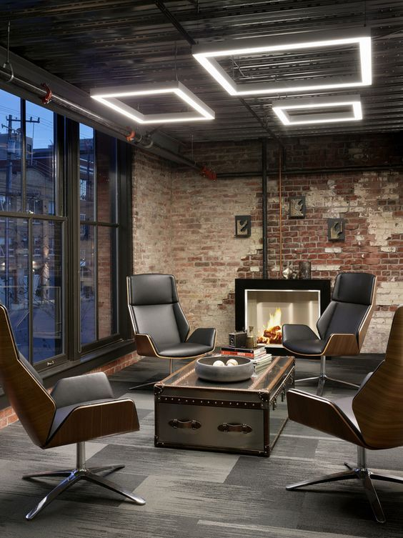 Astounding 17 Best Ideas About Industrial Office Design On Pinterest Largest Home Design Picture Inspirations Pitcheantrous