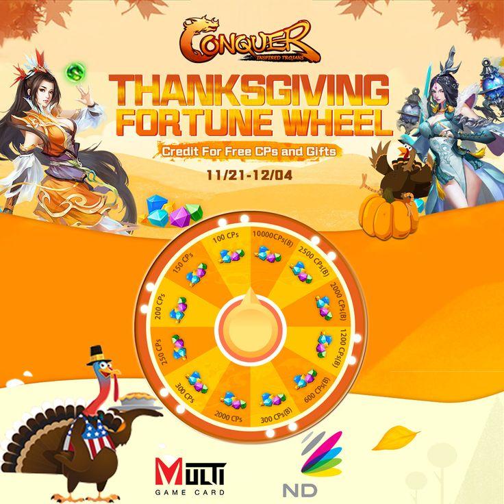 Conquer Online (En) Thanksgiving Fortune Wheel Event