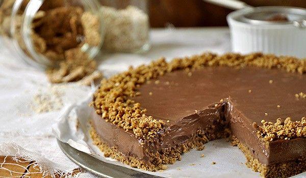 Τούρτα σοκολάτας με γιαούρτι και δημητριακά! | Sokolatomania.gr