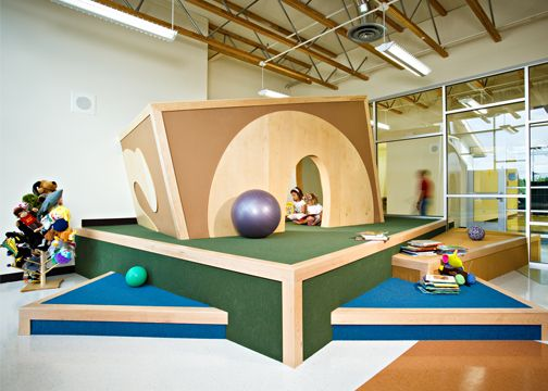 Ann Reid Early Childhood Center by Wight showing the use of platforms for creating space within space. - I love platforms!