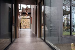 beautiful burnished concrete...River House