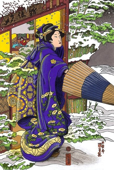 Marcie Heacox (18+ division) from Color Your Own Japanese Woodblock Prints: http://store.doverpublications.com/0486476510.html