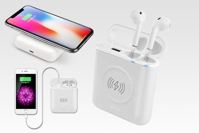 quality design 301f4 5f470 Apple-Compatible Bluetooth Earbuds - Powerbank & Wireless Charger ...