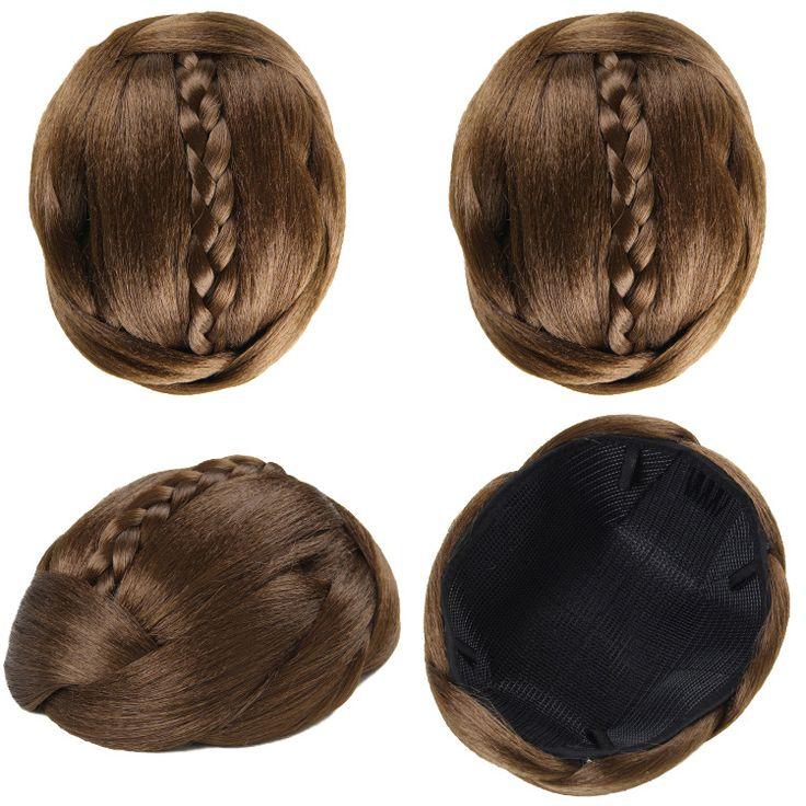 Q88   Synthetic hair buns bun hair chignon  color of 6P  elastic bride hair bun hair