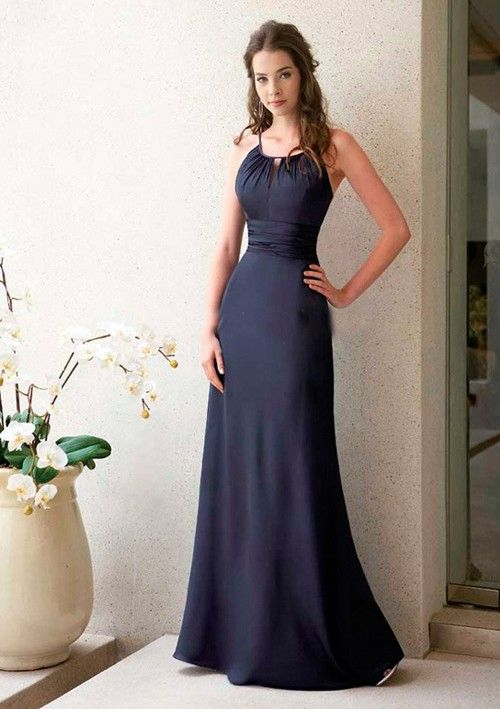 navy bridesmaid dresses | ... Line Navy Blue Bridesmaid Dress UK1774 - Bridal Dresses UK Online Sale