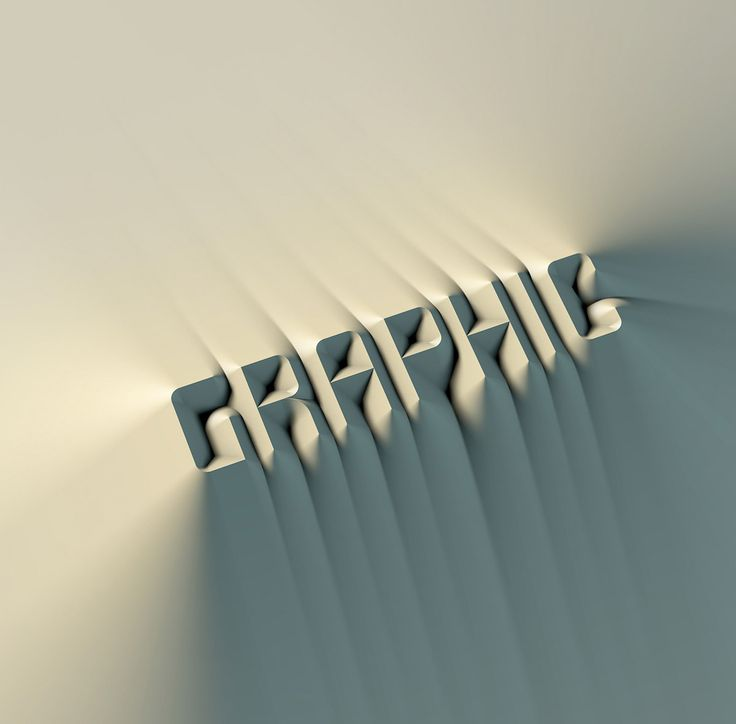 Korean graphic designer Cheolhong Kim plays with light and shadow to create these unique typographic experiments.  More typography inspiration via Behance
