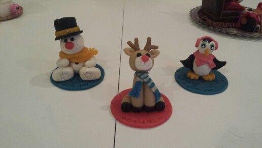 Christmas marzipan figurines. Julefigure i marcipan.