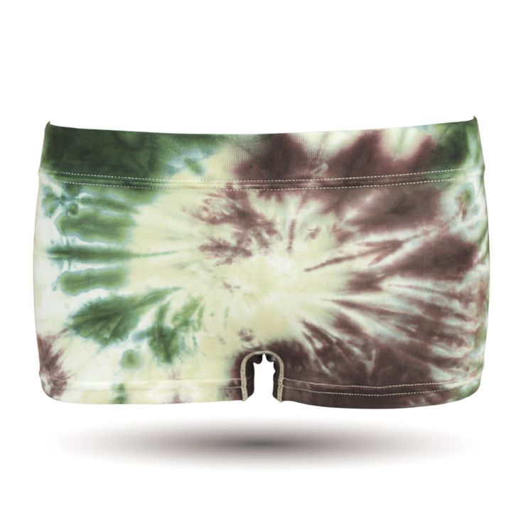 Tie dye/タイダイカラー/コットン/グリーン系/レディースボクサーパンツ/DARK SHINY (ダークシャイニー) , レディース ファッション アンダーウェア インナー ルームウェア ショーツ #darkshiny #ladysfashion #boxerbrief #underwear
