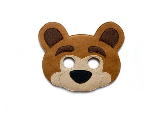 OURS feutre Masque  Masque d'Animal Woodland  Macha par pokiplays - 15€