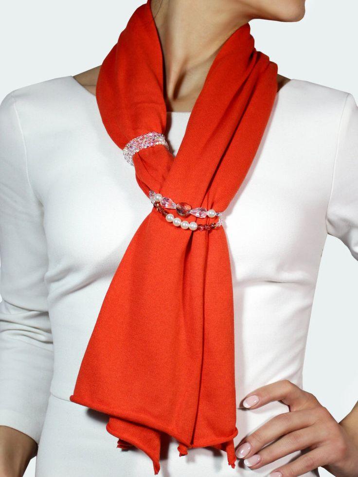 Sciarpa gioiello, sciarpa cotone, stola elegante, sciarpa estiva, sciarpa elegante, foulard arancione di CapodimontiCashmere su Etsy https://www.etsy.com/it/listing/506388719/sciarpa-gioiello-sciarpa-cotone-stola