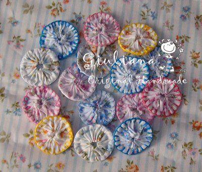 Blanket stitch yoyos