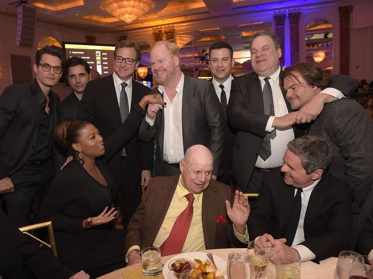 "John Mayer, John Stamos, Queen Latifah, Bob Saget, Jim Gaffigan, Don Rickles, Jimmy Kimmel, Jeff Garlin and Jack Black attend the ""Cool Comedy - Hot Cuisine"" benefit in Beverly Hills. The event was held to benefit the Scleroderma Research Foundation. Jason Kempin, Getty Images"