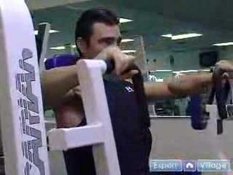 Using the Chest Press Exercise Machine at the Gym