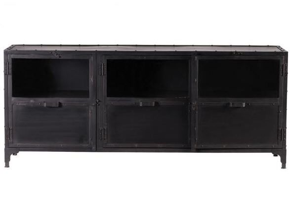 buffet design m tal noir factory prix promo miliboo. Black Bedroom Furniture Sets. Home Design Ideas