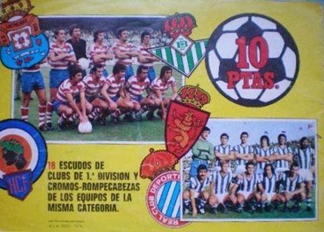 """Cromos Este 1976-77. """"Escudos y equipos"""". Liga Española. 20"""
