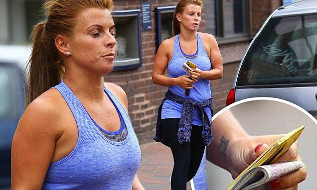 Pregnant Coleen Rooney reveals a hint of her growing bump in gym gear