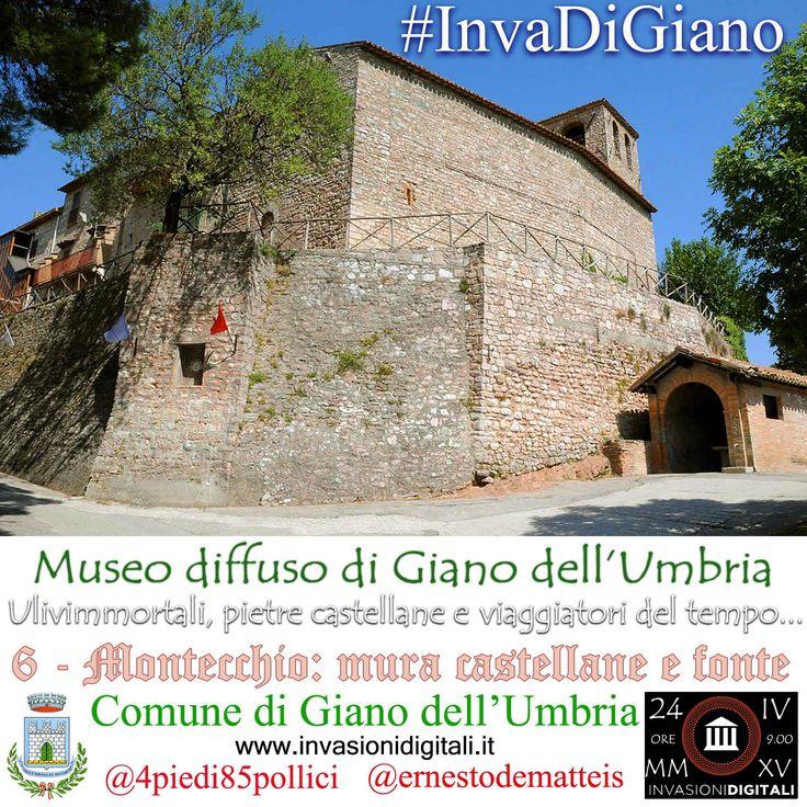Mura castellane e fonte di Montecchio #InvaDiGiano2015 #invasionidigitali