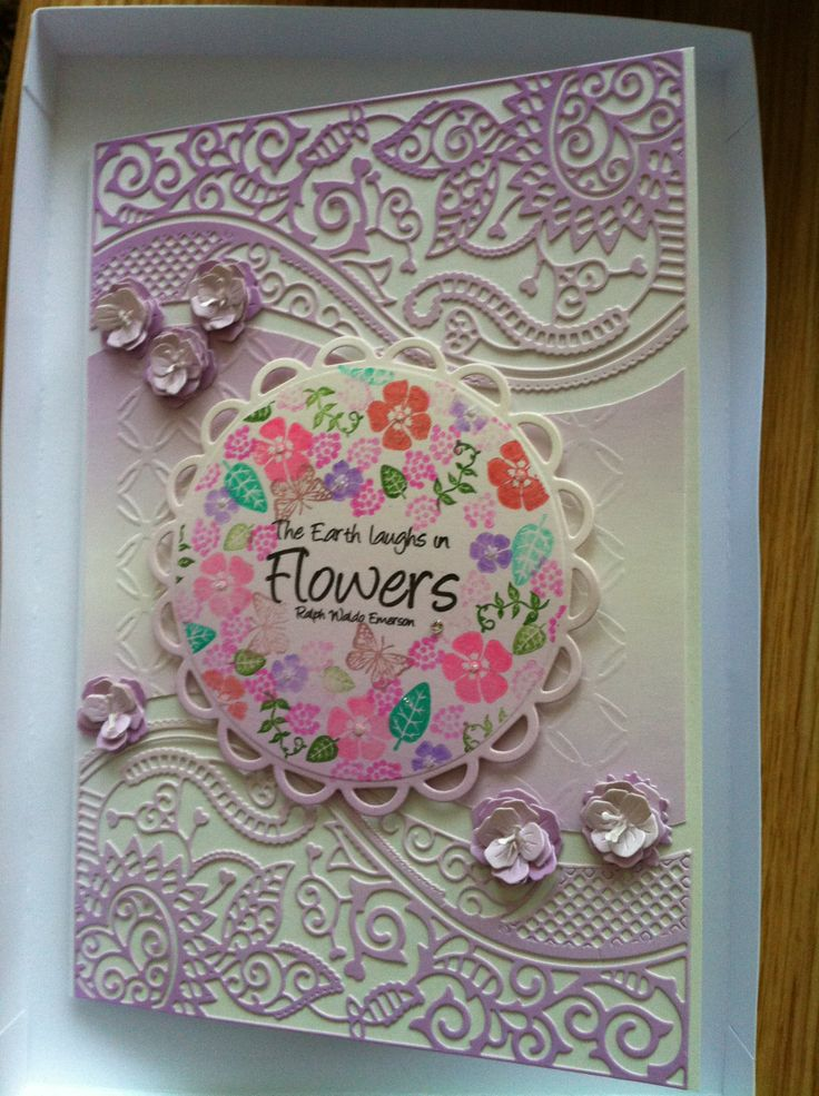 Lace Card Making Ideas Part - 21: Birthday Card I Just Made With Tattered Lace Double Delights Adore Die And  Crafts Too Lattice