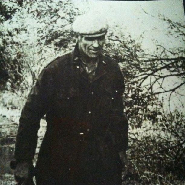 papa in zwart-wit