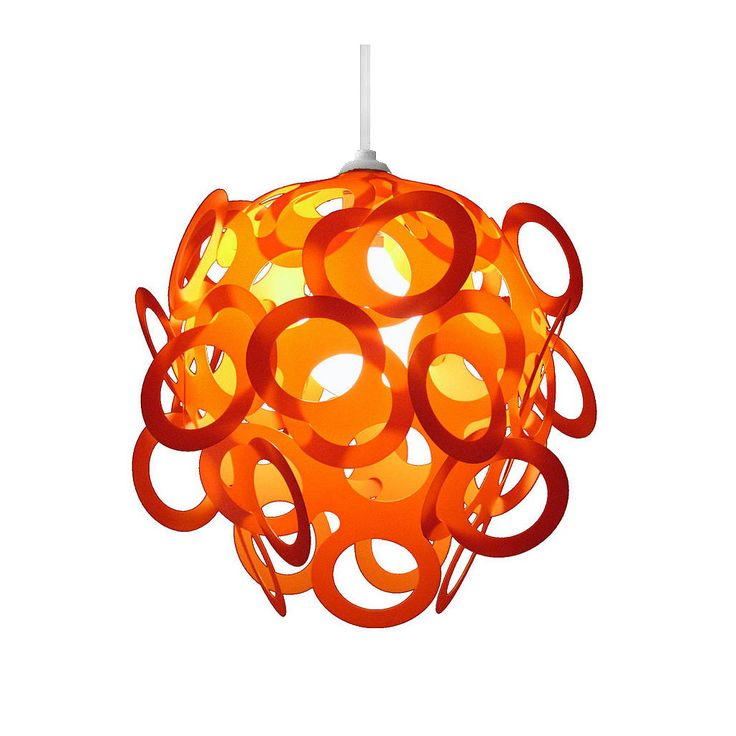 Boo ♥ Loopy-Lu Orange Lamp Shade designed by Lothair Hamman – Funky Lamp Shades