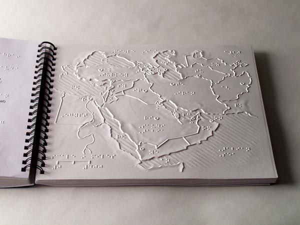braille map - beautiful tactiley and visually
