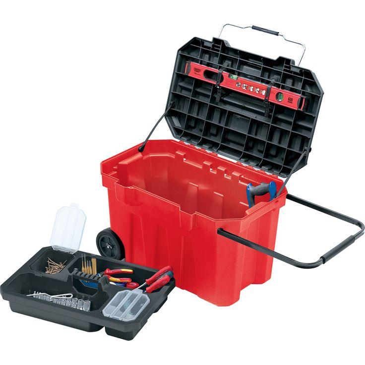 Draper Expert Wheeled Plastic Tool Box 760mm: B>I>Expert Quality/I>/B>, tool box on heavy duty… #Tools #HandTools #PowerTools #GardenTools