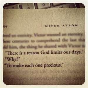 precious time... Mitch Albom