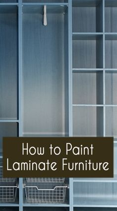 When painting laminate furniture, there are just a few things to know that are different than painting real wood furniture. With laminate furniture, you are basically dealing with a surface that is basically plastic instead of a surface that is wood. Sanding? With plastic, you cant really sand the surface,