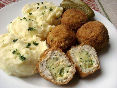 Paprikás krumpli: Kijevi csirkegolyó
