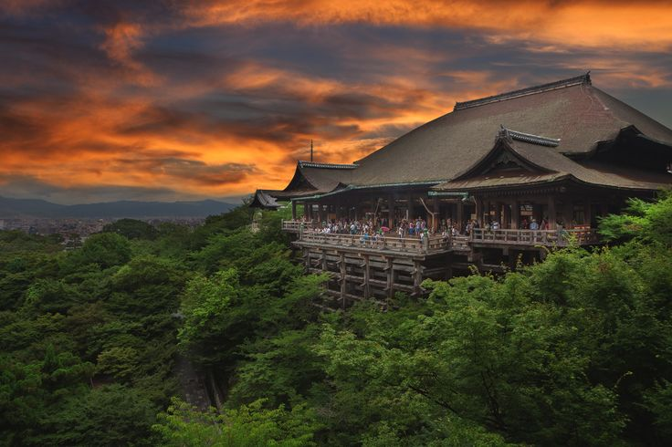 """Kiyomizu-dera Temple - Overlooking the Kiyomizu-dera temple in Kyoto, Japan. Roughly translated as """"Pure Water Temple"""", this is one of the most celebrated Buddhist temples in all of Japan. Peter Stewart"""