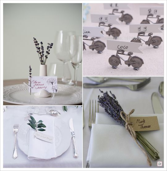 Decoration mariage provence porte nom v lo bouquet de for Decoration table porte nom