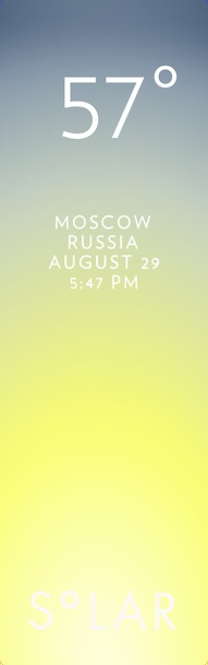 Weather has never been cooler. Solar for iOS.  Share your weather at thisissolar.com