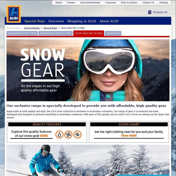 ALDI 2016 Snow Gear Sale - Starting from Saturday 14 May - Items from $4.49