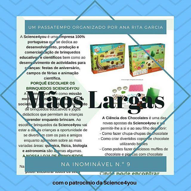 """Há um novo passatempo """"Mãos largas"""" na #revistainominavel n.º 9, com o apoio da Science4you. De que estão à espera para concorrer?  https://buff.ly/2xqrgNa  #revistadigital #revistaonline #revista #revistaportuguesa #portuguesemagazine #portugal #bookstagram #instadaily #leitura #passatempo #oferta #sorteio  [link in bio]"""