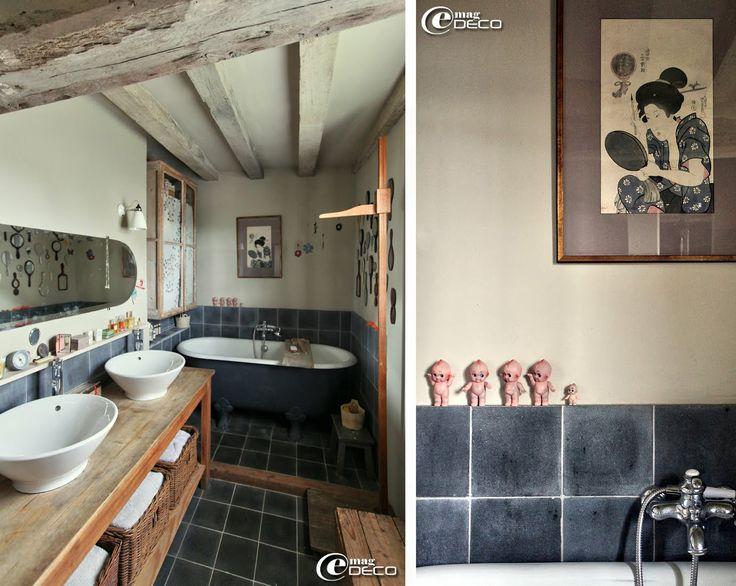 decoration interieure longere salle de bain pinterest. Black Bedroom Furniture Sets. Home Design Ideas