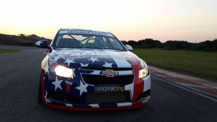 "The ""Star spangled"" Williams Hunt Chevrolet Cruze."