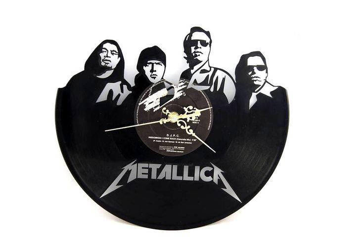 """Zegar+z+płyty+winylowej+""""Metallica""""+w+DECOuPAT+na+DaWanda.com"""