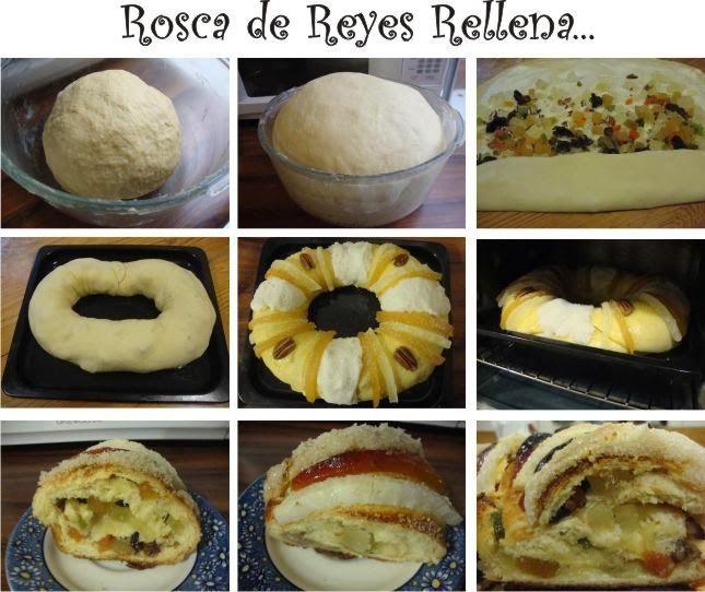 Rosca de Reyes rellena