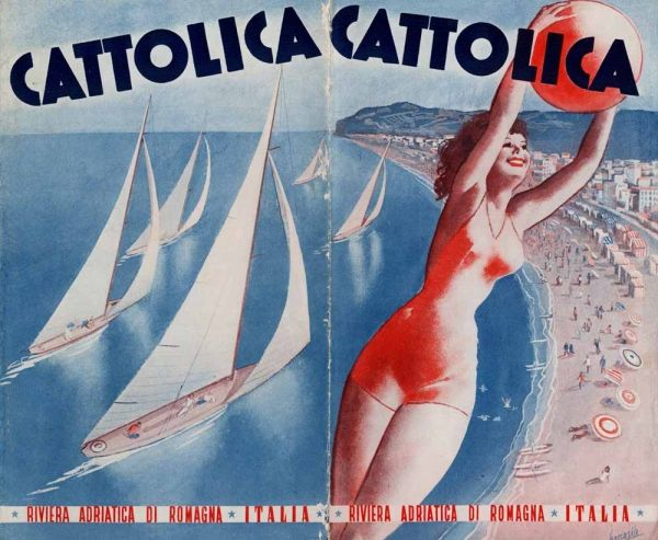 Illustration by Gino Boccasile (1901 – 1952), an Italian illustrator. Early in his youth he lost his left eye, when a drop of quicklime fell into it while he drank from a fountain. Nonetheless, he showed a precocious aptitude for design. He produced posters, illustrated fashion magazines and gained fame for his sensuous renderings of the female form.