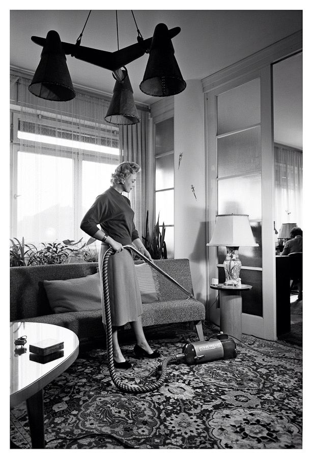 A Czech household from early 50's. A vacuum cleaner has become an absolutely necessary helper of every Czech household.