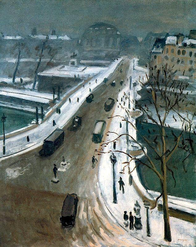 Albert Marquet - le pont neuf sous la neige