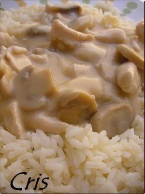 Receta Solomillo de pollo en salsa con arroz blanco (thermomix)