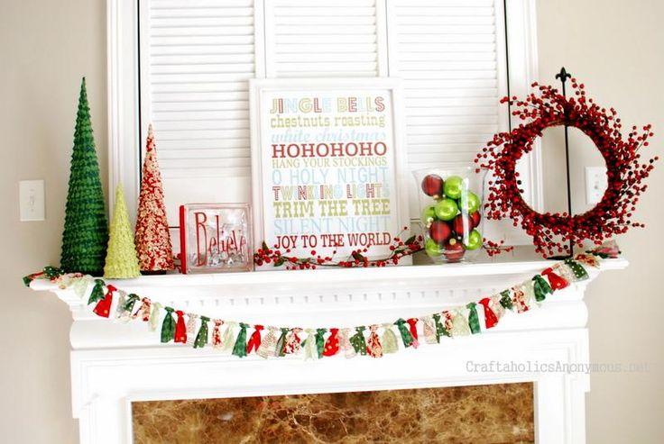 Mantel  Decorations : IDEAS &  INSPIRATIONS : christmas mantel