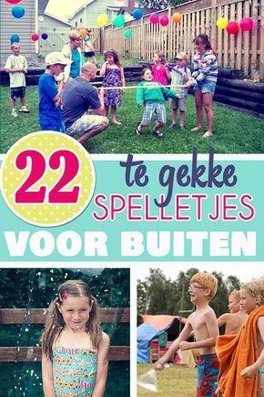 overzicht van 22 leuke spelletjes en activiteiten om buiten te spelen op je kinderfeestje!