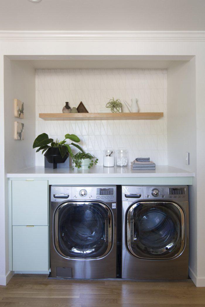 Turlock Showhouse Scalene Triangle Laundry Room Installation
