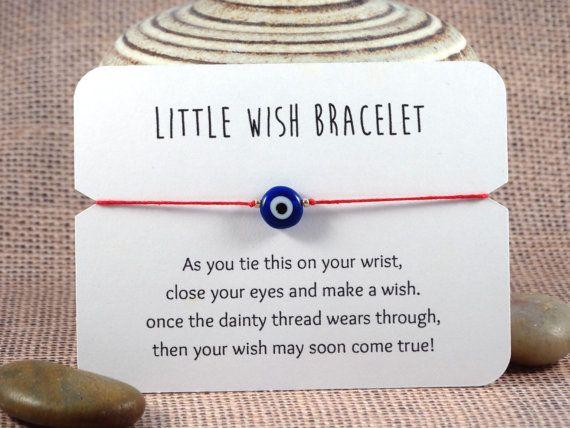 Evil Eye Wish Bracelet // Nazar Bracelet // Lucky von TealOwlStudio