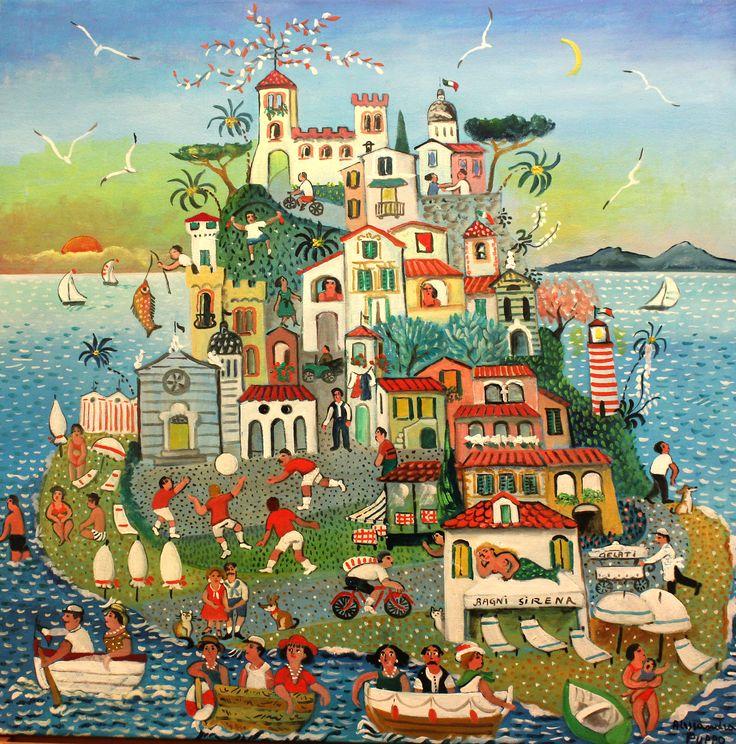 "Alessandra Puppo, ""Holiday Island"", 2014, Oil on canvas, 60X60cm"