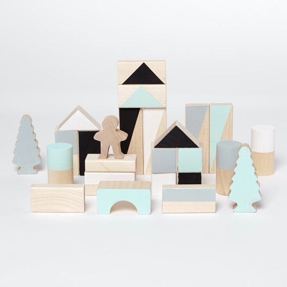 Those little hand-painted eco wooden blocks will make a perfect gift for someone very special. Our wooden blocks will make a wonderful handmade gift for your little one, a gift, which will be treasured for years to come.  Beautiful pastel colours and geometrical patterns make them fun to play with and teach creativity, shapes, develop imagination.  Their small size is perfect for the little hands to grab and build. Every block is unique.  Blocks are made of solid fir wood, which is…